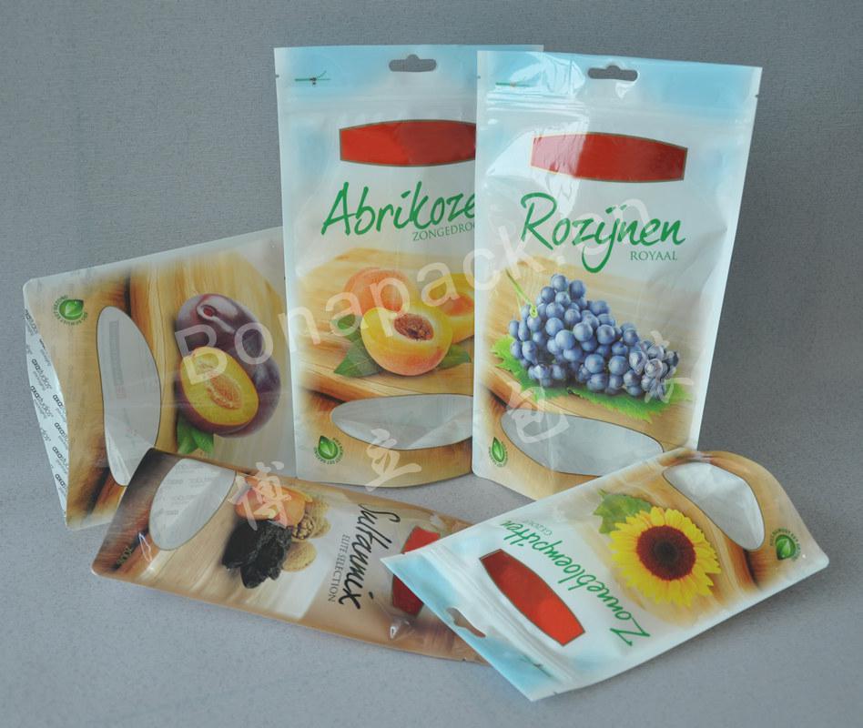 铝箔彩印自立自封拉链真空休闲食品包装袋